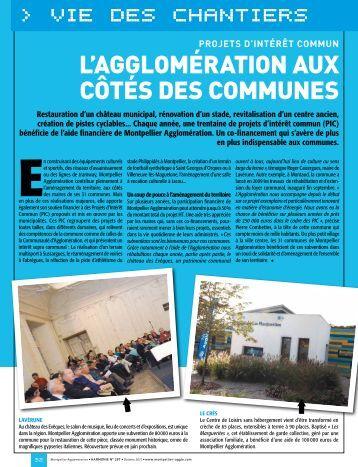 vie des chantiers > vie des chantiers - Montpellier Agglomération