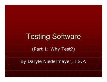 Testing Software - Niedermayer.ca