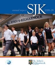 2008 - 2009 Annual Report - St. John's-Kilmarnock School