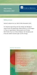 Willkommen With-Profits Newsletter 2007 - Clerical Medical