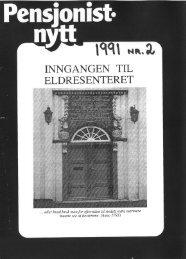 Pensjonist-nytt 2-1991