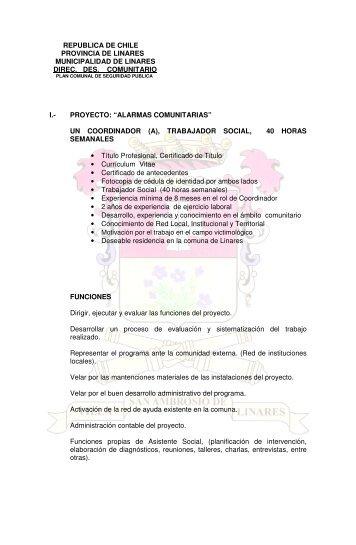 proyecto - Municipalidad de Linares