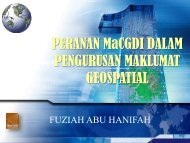 Peranan MaCGDI dalam Pengurusan Maklumat Geospatial