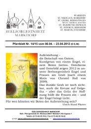 Annika Bosch; Tobias Braunschweiler - Seelsorgeeinheit Markdorf
