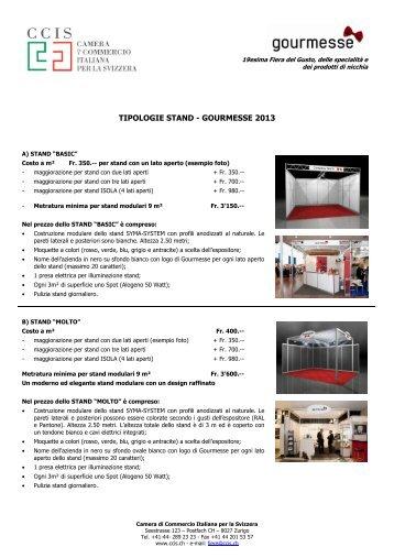 COSTI (pdf) - Camera di Commercio Italiana per la Svizzera
