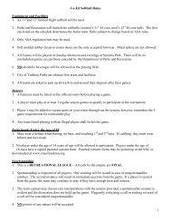 Co-Ed Softball Rules Equipment and Facilities 1 ... - City of Yankton