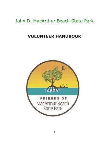 Volunteer Manual - John D. MacArthur Beach State Park