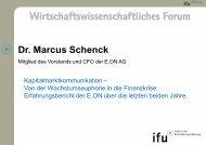 Wirtschaftswissenschaftliches Forum - Institute of Management (ifu)