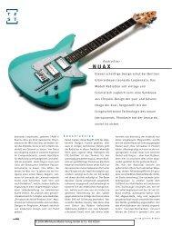 Nuax Radio Star - Lospennato Electric Guitars and Basses