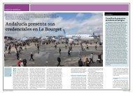 Andalucía presenta sus credenciales en Le Bourget