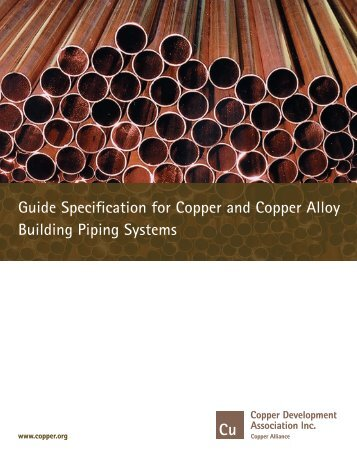 Guide Specifications on Plumbing - Copper Development Association