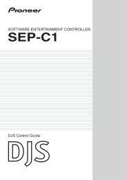 software entertainment controller sep-c1 - Pioneer DJ