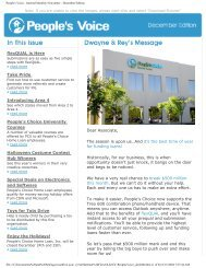 People's Voice - Internal Monthly Newsletter ... - PZRservices.com