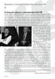 Druhá část časopisu 3/2005 ke stažení - Folklorní sdružení ČR