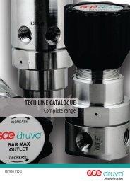 TECH LINE CATALOGUE Complete range - GCE