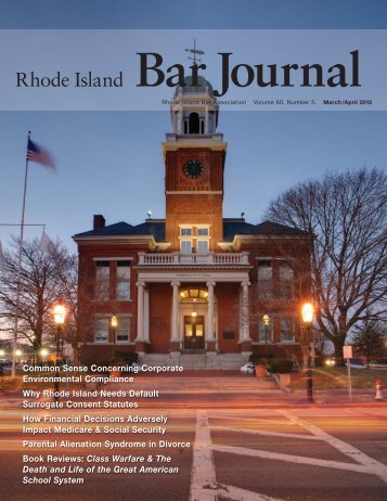 Rhode Island Bar Journal - Rhode Island Bar Association