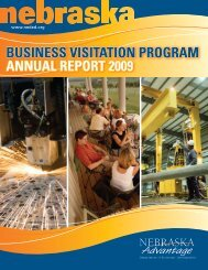 business visitation program annual report 2009 - Nebraska ...