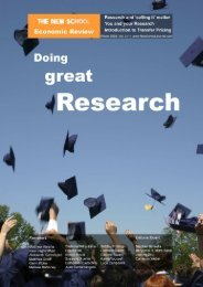 Good research and 'selling it' matters - New School Economic Review