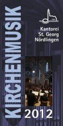 Kantorei St. Georg Nördlingen - Kirchenmusik St. Georg Nördlingen