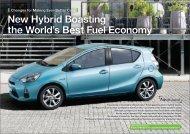 New Hybrid Boasting the World's Best Fuel Economy*1 - Toyota