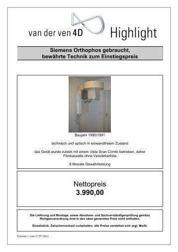 Nettopreis 3.990,00