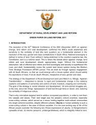 Green Paper on Land Reform - South African Table Grape Industry