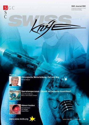 Chirurgische Weiterbildung: Ziel und Weg ... - SWISS KNIFE