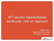 IKT resursu koplietošanas tendences: riski un ieguvumi - LIKTA