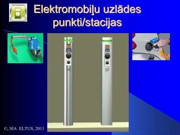 Elektromobiļu uzlādes punkti/stacijas