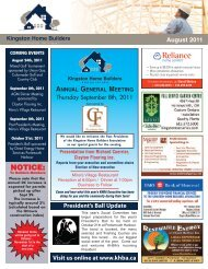 Issue 1 August 2011 - Kingston Home Builders