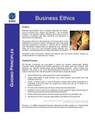 Business Ethics - International Zinc Association