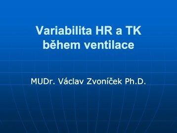 Variabilita HR a TK během ventilace