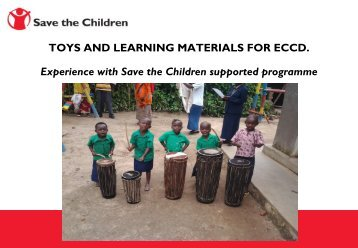 Presentation on ECCD toys and learning materials