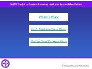 MAPS Just Culture Toolkit - Minnesota Hospital Association