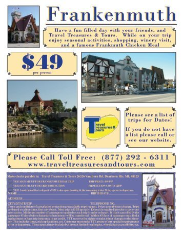 Frankenmuth Trip - Travel Treasures & Tours