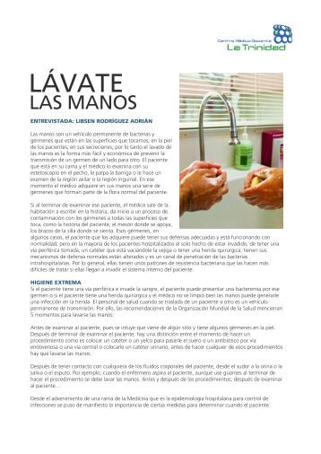 LÁVATE - Centro Médico Docente La Trinidad