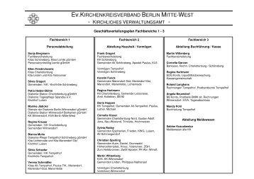 Ev.KIRCHENKREISVERBAND BERLIN MITTE-WEST