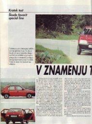 Prenesi PDF testa Škoda Škoda Favorit Special Line - Avto Magazin