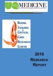 2010 BTCCRC Research Report - School of Medicine - University of ...