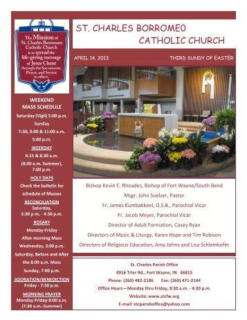 st. charles borrome0 catholic church - Saint Charles Borromeo ...