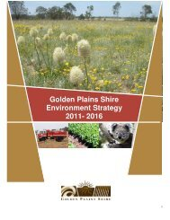 Golden Plains Shire Environment Strategy 2011- 2016