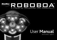 Roboboa User Manual - WowWee