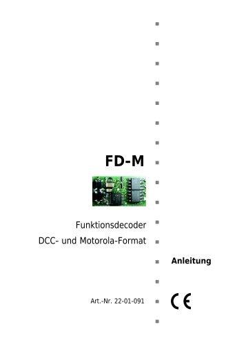 DCC-/Motorola-Funktionsdecoder FD-M - MDVR