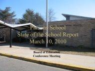Parsons State of School 09-10 (pdf)