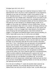 De Bijbel open 2012 46 (24-11) De vraag waar we vanmorgen over ...