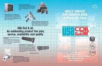 USA BELT DRIVE-8F-INARDS.indd - USA Coil & Air