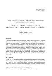 (mögöttes felelősség) elévülése - IAS