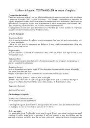 Utiliser le logiciel TEXTHANDLER en cours d'anglais - Balises