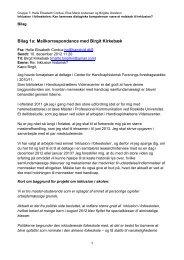 Bilag 1a: Mailkorrespondance med Birgit Kirkebæk