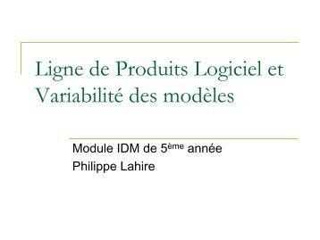 Ligne de Produits Logiciel et Variabilité des modèles